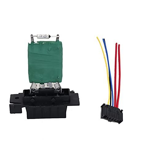 CLEIO 13248240 Calentador Blower Motor Resistor de Ventilador con arnés de cableado Ajuste para Vauxhall Opel Corsa FIAT Punto 12V Calentador de automóviles Resistor (Color Name : Pair)