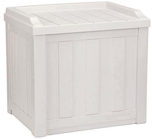 Our #6 Pick is the AmazonBasics 22-Gallon Resin Deck Outdoor Storage Box