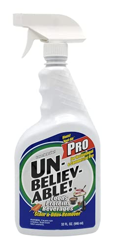 UNBELIEVABLE Pro Stain and Odor Remover, 1 Quart, 1 Count