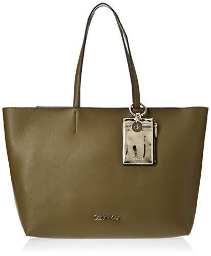 Calvin Klein Ck Must Psp20 Med Shopper, Damen Tote, Grün (Drk Olive), 11x27x39 cm (W x H L)