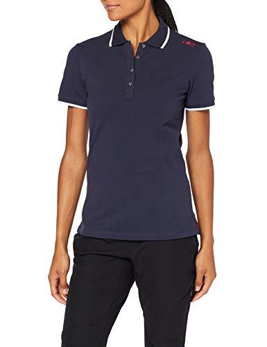 CMP Damen Polo 39D8386 T-Shirt, Black Blue, 36