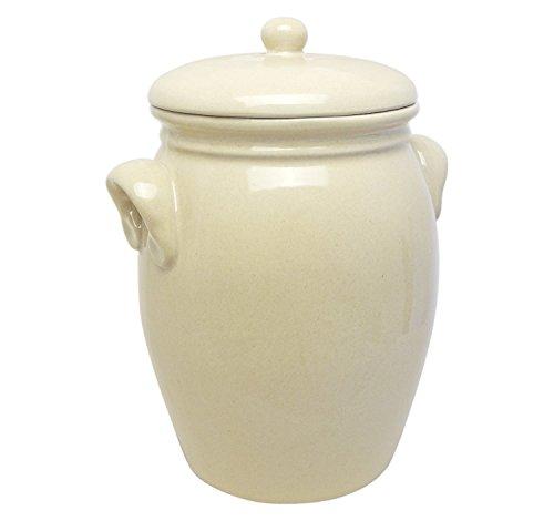 Original K&K Rumtopf 5,0 Liter - Form 2 - beige/Steinzeugtopf