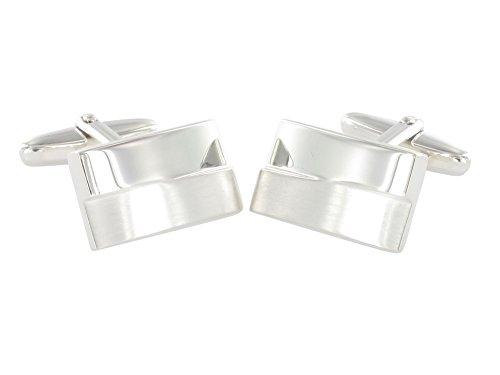 GROM Manschettenknöpfe Silber Massives 925er Sterling Silber 614809