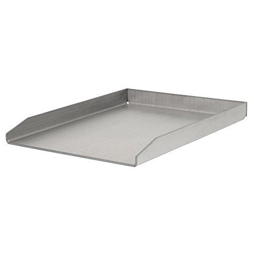 BBQ-Toro Edelstahl Grillplatte | 30 x 40 cm | BBQ Plancha passend für Weber Grill | rechteckig | universal und massiv | Grillblech für Holzkohle und Gas