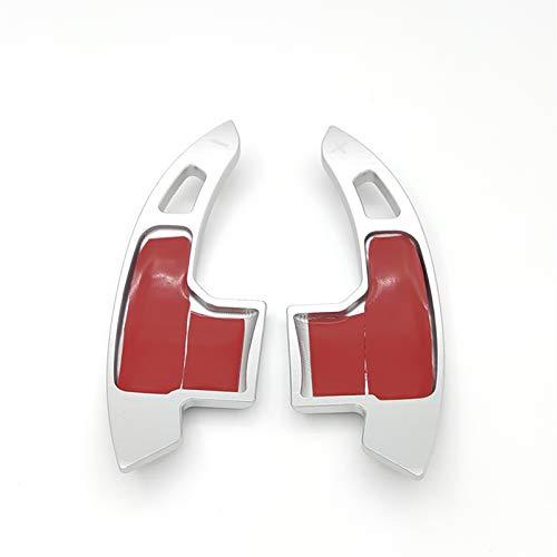 Aluminiumlegierung Lenkrad Schaltpaddel Cover Trim Sticker Für Ford Mustang 2015+ (Silver)