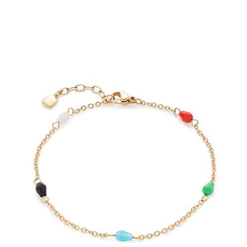 Jewels by Leonardo Damen-Gliederarmbänder Edelstahl Glas 017059