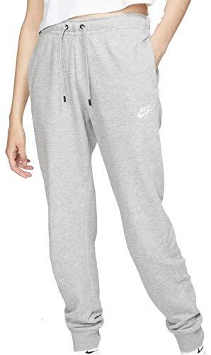 NIKE Sportswear Essential W Pnts Pantalones de Deporte, Mujer, Gris (Dark Grey Heather/White), L