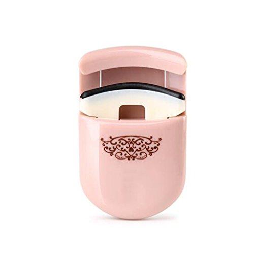 Cils Clip Portable Mini Clip Fit Eye Curling Naturel Durable Maquillage des Yeux Cils Bigoudi Rose (Color : Pink)
