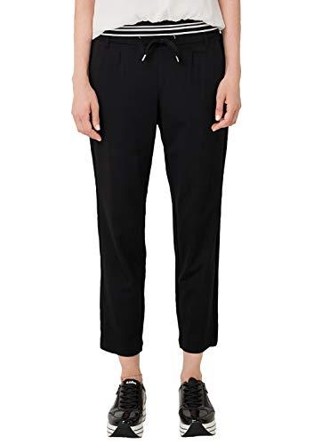 s.Oliver RED Label Damen Regular Fit: Tapered Leg-Hose im sportiven Look Black 46
