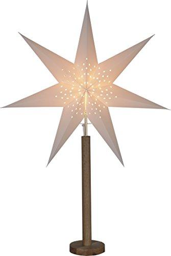 Star 234-95 Elice Etoile de papier à râtelier, Bois, E14, Beige, 16.0 x 60.0 x 85.0 cm