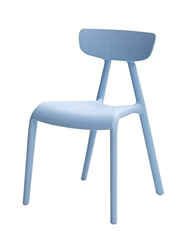 Amazon Basics Blue, Stackable Kids Chairs, Premium Plastic, 2-Pack