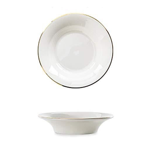 Sauce Serving Dish Ceramic Dip Bowls Set White Dipping Sauce Bowls Snack Serving Dishes Dipping Bowls Seasoning Dishes Multipurpose Side Dish Bowl Small Bowls Seasoning Dish (Color : Gold)