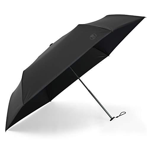 日傘 超軽量(135g) 折りたたみ傘 UVカット 遮光 遮熱 晴雨兼用 折り畳み日傘 300T 高強度カーボンファイバー 収納ポーチ付き ブラック