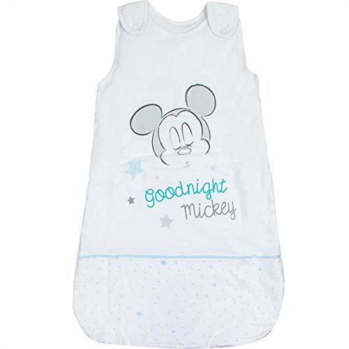 Babybogi Mickey Maus Schlafsack Baby | Disney Baby Schlafsack gefüttert | Schlafsack für neugeborene | 0-18Monate 70cm 90cm 110 cm Junge Gefüttert (Hell Blau, 110cm (24-48 Monate))
