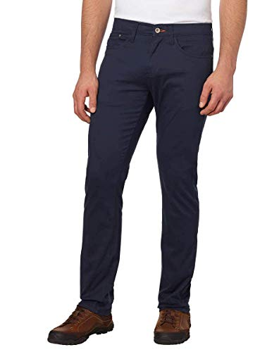 Weatherproof Vintage Men's 5 Pocket Twill Pant (Navy, 38 x 34)