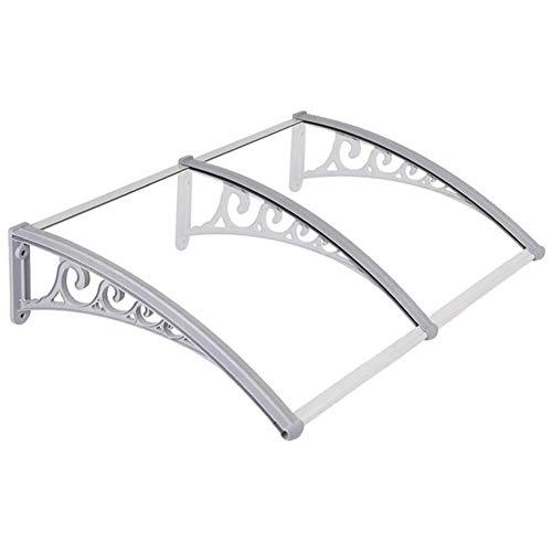 LIXIAOHONGG Porta Canopy Tenda Front Porch Pioggia Neve Resistente - Arch Canopy Ombra Outdoor Patio Copertura del Tetto - 75 Centimetri di profondità (Color : White)