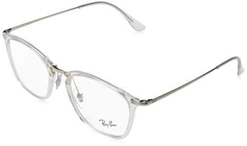 Ray-Ban Unisex-Erwachsene RX7164-2001-52 Brillengestelle, Mehrfarbig (Transparente), 52