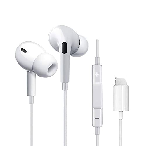 Wired Earbuds Earphones for iPhone 11 Pro, Noise Cancelling Earphones...