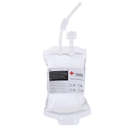 TBoxBo 10 bolsas de bebida de 350 ml de PVC médico reutilizable...
