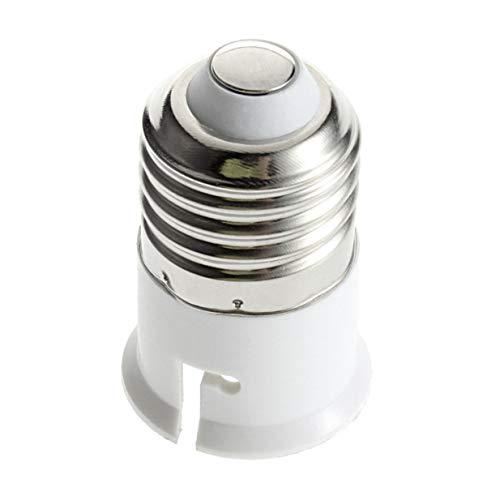 Inicio E27 a B22 Socket Base de Bombilla portátil Soporte de lámpara Profesional Convertidor Accesorios de luz duraderos-Blanco