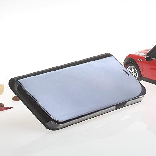 HHuin Espejo claro caso inteligente Flip Stand caso Anti-arañazos a prueba de golpes teléfono cubierta protectora para Samsung S9 Plus Nota 9 S8