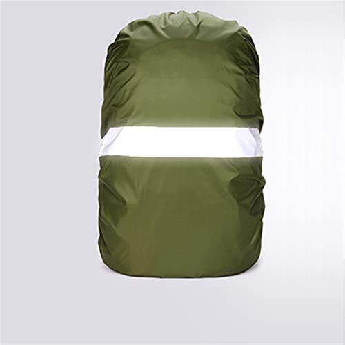 TTCI-RR Funda Mochila, Cubierta de Lluvia de Mochila, Cubierta de Mochila Impermeable Reflectante para Senderismo Camping Viajar en Bicicleta (Color : Army Green, Size : 30-40L)
