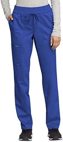 CHEROKEE Workwear WW Revolution Mid Rise Tapered Leg Drawstring Pant WW105 L Royal product image