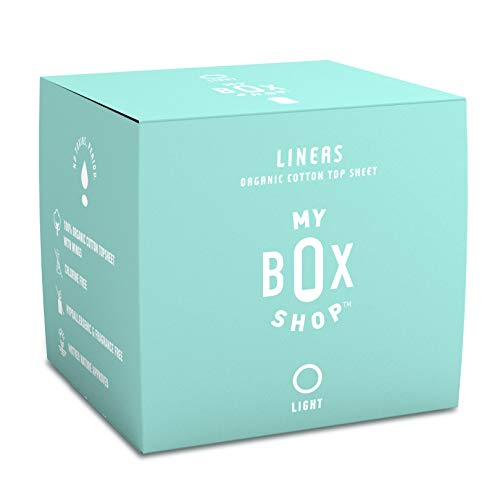Organic Panty Liners for Women, Always Ultra Thin, Absorbent and Hypoallergenic for Light Days or Extra Protection on Heavy Days, Feminine Hygiene Products by MYBOXSHOP. (40 Count)