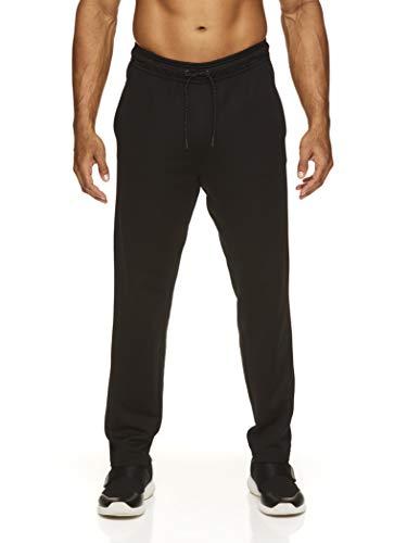 Reebok Men's Track & Running Pants with Pockets - Athletic Workout Training & Gym Pants for Men - Black Focus Ob, Large