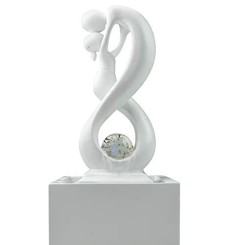 Zen'Light SCFR19-C8 Blanc Fontaine d'intérieur, Polyrésine, 14 x 14 x 31 cm