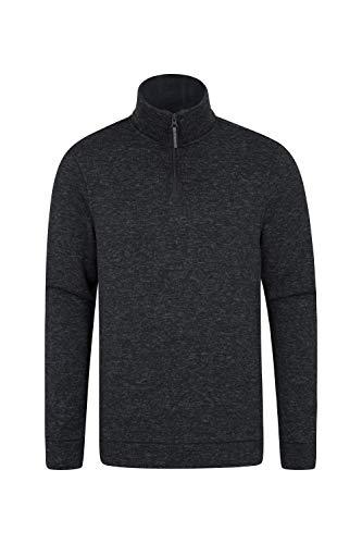 Mountain Warehouse Idris Fleecejacke Für Herren - Leichtes Oberteil, atmungsaktives Sweatshirt, schnelltrocknend, weiche Mikrofleecejacke - Für Camping bei kaltem Wetter Kohle Large