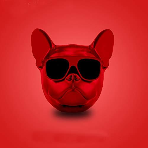 LCZ Intelligente Überdimensionierte Bulldogge Bluetooth Lautsprecher Ganzkörper Hund Splitter Resistenter Lautsprecher Hundekopf Tragbarer FM Radio,Black,A,M
