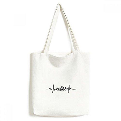 Kaffee Zitat Leinwand Tasche Umweltfreundlich Tote groß Geschenk Kapazität Einkaufstaschen