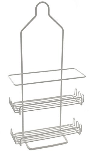 Ybm Home Two Tier Deluxe Shower Caddy Rack Organizer with Shelves (1, White-1129-12) by Ybmhome
