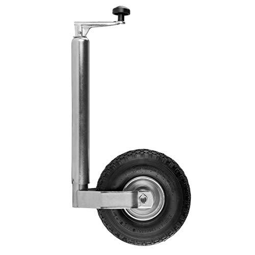 Stützrad | luftbereift | Rad: 260 x 85 mm | 195 mm Spindelhub | 150 kg Stützlast | Anhänger | PKW | Ersatzteile | Rad | Vollgummi | Anhängerrad | Stütze