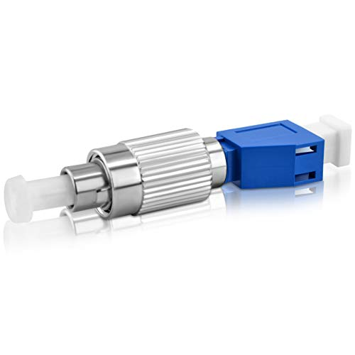 SKYSHL SM 9/125um Adaptador de Fibra Óptica FC/LC Híbrida FC UPC(Macho) a LC UPC(Hembra) Adapter Conectores de FC-LC UPC para OTDR/OLS/OPM/VFL/Fibra Óptica(FCUM-LCUF)