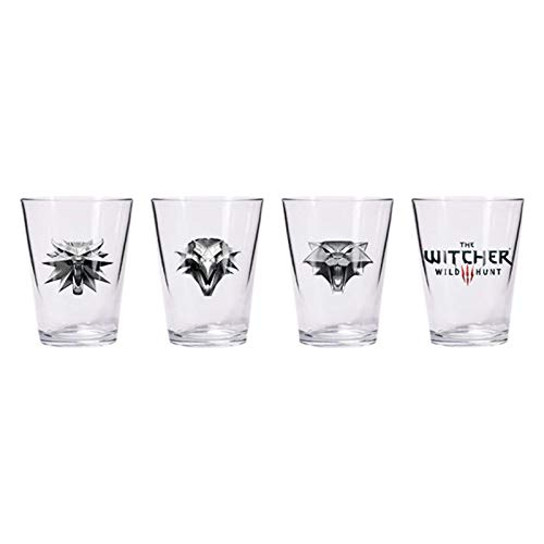 Dark Horse Comics- The Whitcher Witcher Juego de Vasos de chupito, Multicolor (3000-128)
