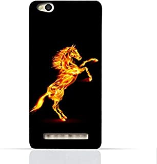 Xiaomi Redmi 4A TPU Silicone Case With Horse On Flame Design