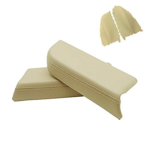 DSparts Replaces Door Panel Armrest Synthethic Leather Cover Fit for Honda Pilot 09-13 Leather Part Only Beige