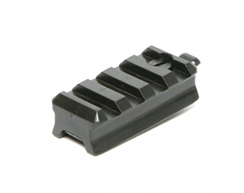 DLP Tactical Picatinny Mount Adaptor for ARC Rail Equipped ACH/Fast/MICH Combat Helmet (Black)