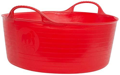 TUBTRUGS Baignoire SP15BL - Bassine Peu Profonde de 15 litres - Bleu-P, Plastique, Red, 15 Litre Small