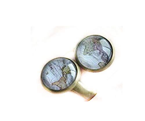 Anillo de mapa del mundo, anillo ajustable, joyería steampunk, anillo ajustable, anillo novedoso, anillo de declaración