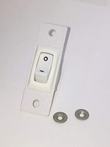 Jenn-air Cooktop Stove Fan Switch (White Color) Replacement (Not Original) 2 Wire Kit 12001127