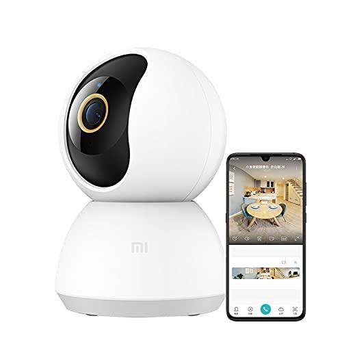 Mi 360° Home Security Camera 2K . Resolución 2K -Detección Humana con IA -Lente 6P -Abertura F1.4 ✅