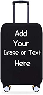 Personalised Travel Luggage Cover with Your Image or Text Travel Luggage Protector Elastic Dustproof Fits 22-25 Inch Size M