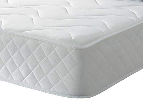The eXtreme comfort (Uk) ltd Diamond Flame 9' Deep Comfort Coil Spring Cool Blue Memory Foam Mattress. 3ft Single Mattress