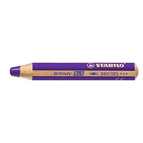 STABILO woody 3 in 1 crayon de couleur 1 pièce(s) Violet - Crayons de couleur (1 pièce(s), Violet, Enfant, Bois, Violet, 1 cm)