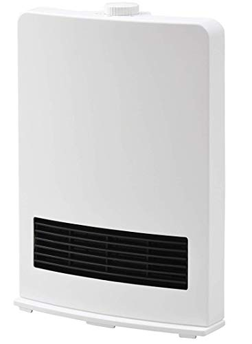 [山善] セラミックファンヒーター (セラミックヒーター) 暖房器具 1200W / 600W 2段階切替 DF-J121(W) [メ...