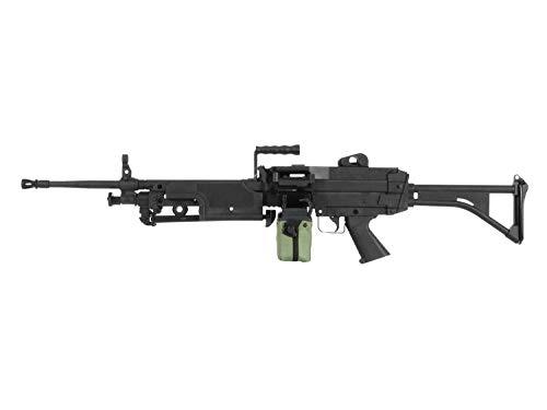 A&K Airsoft M249 MK1 Softair LMG AEG, Nylon 'Upgrade' Version, 11.1V Ready, CNC Stahl Gears <0,5 J.