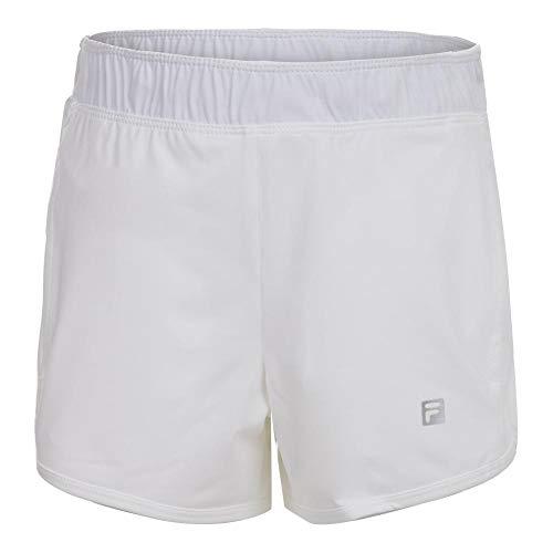 Fila Girl's Double Layer Knit Shorts M, White/White
